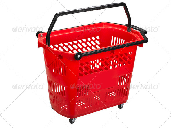 Shopping cart , clipping path - Stock Photo - Images