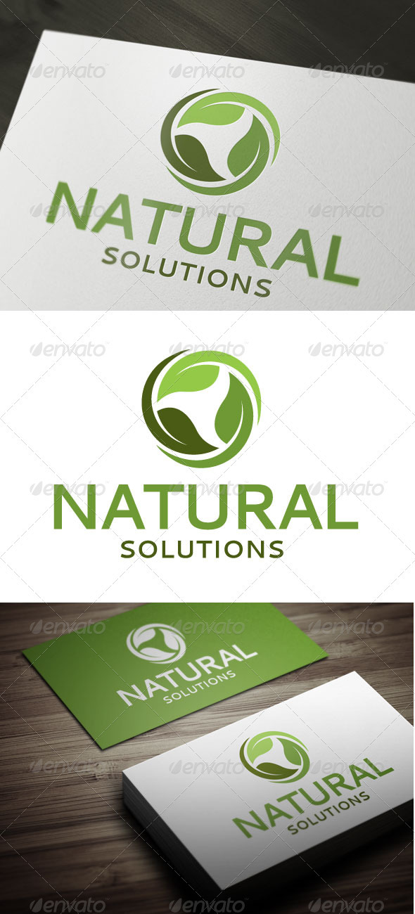 Natural Solutions - Nature Logo Templates