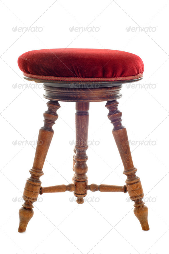 antique stool - Stock Photo - Images