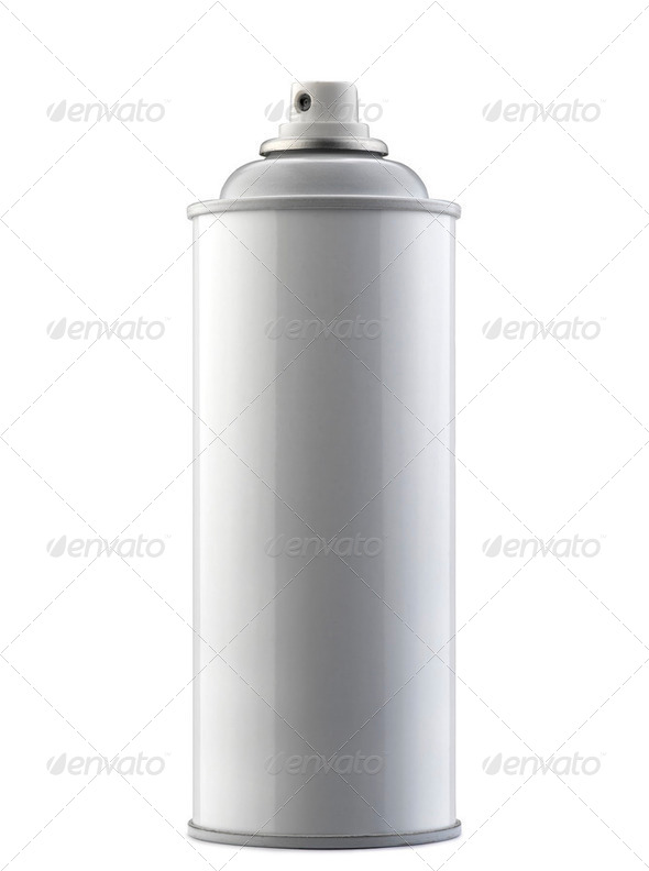 Spray bottle isolated on white background - Stock Photo - Images