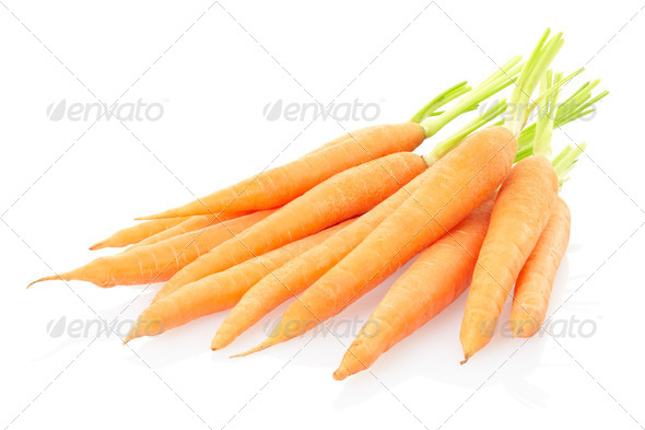 Carrots on white - Stock Photo - Images