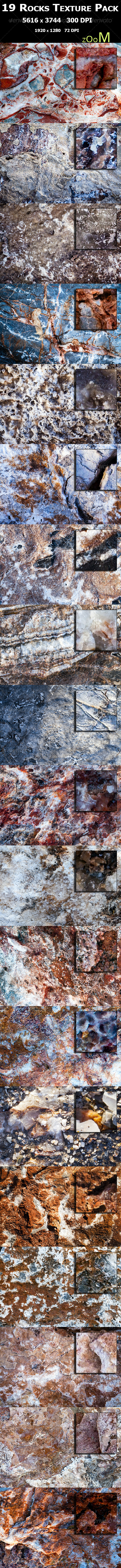19 Rocks Texture Pack - Stone Textures