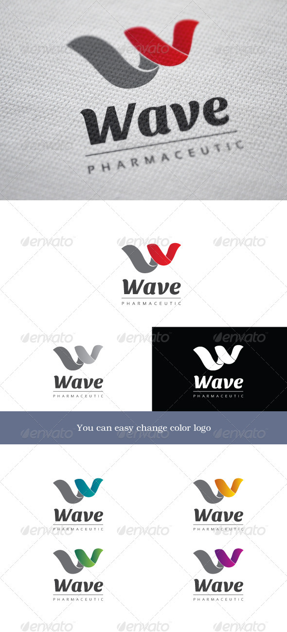 Wave - Letters Logo Templates