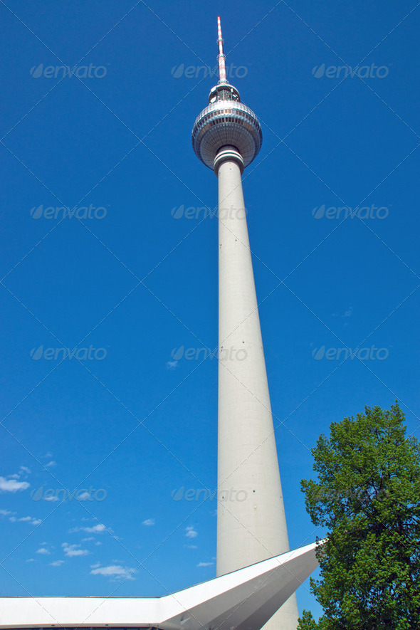 The Television tower  - Stock Photo - Images