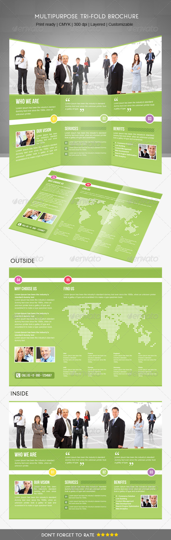 Trifold Business Brochure  - Brochures Print Templates