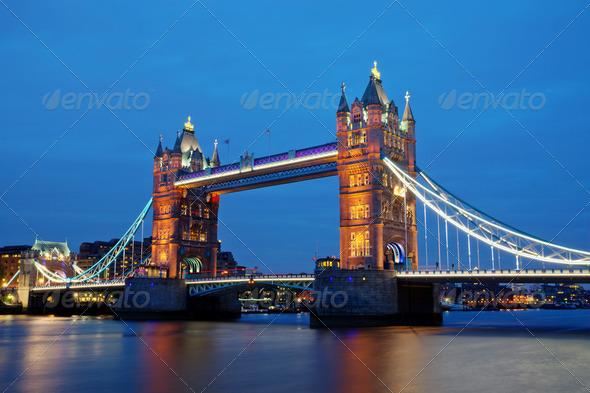 London landmark Towerbridge  - Stock Photo - Images