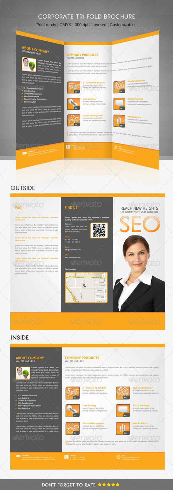 Multipurpose Trifold Brochure - Corporate Brochures