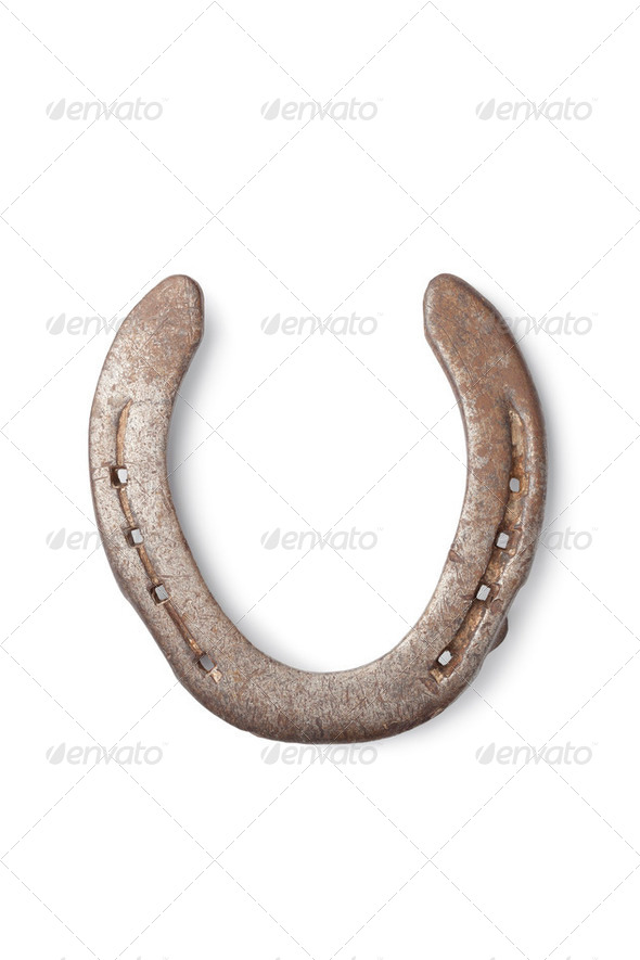 Old horseshoe - Stock Photo - Images