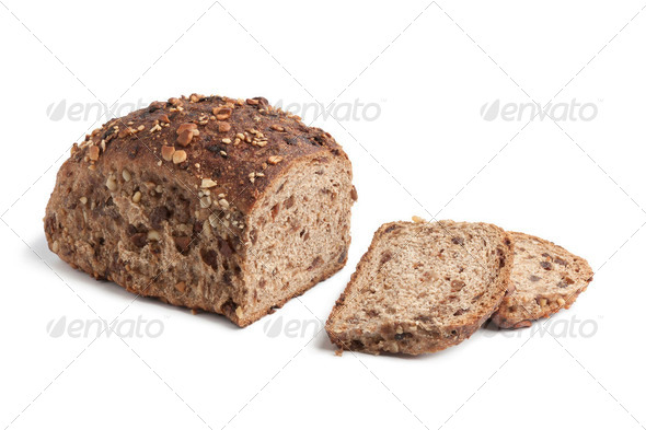 Homemade bread with raisins and nuts - Stock Photo - Images