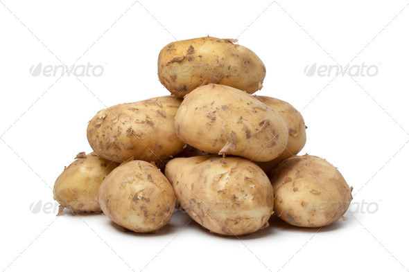 First new potatoes - Stock Photo - Images