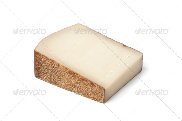 Piece of Swiss Gruyere cheese - Stock Photo - Images