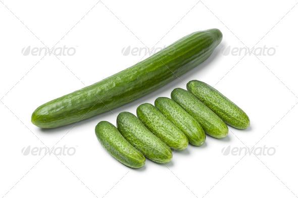 Fresh mini cucumbers - Stock Photo - Images