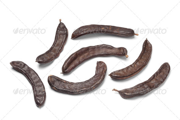 Whole Carob pods - Stock Photo - Images