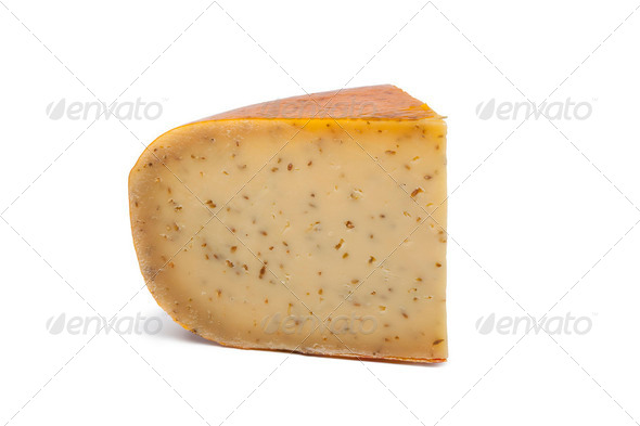 Gouda cumin spiced cheese - Stock Photo - Images