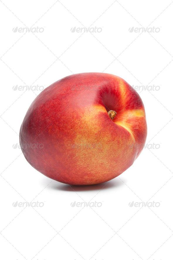 Whole single fresh nectarine - Stock Photo - Images