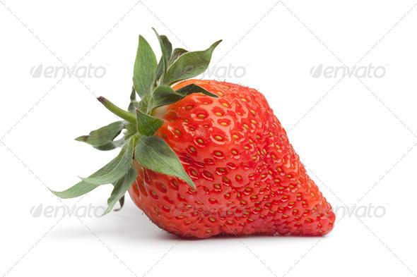 Whole fresh strawberry - Stock Photo - Images