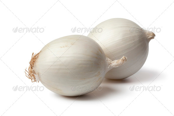 Fresh white onions - Stock Photo - Images
