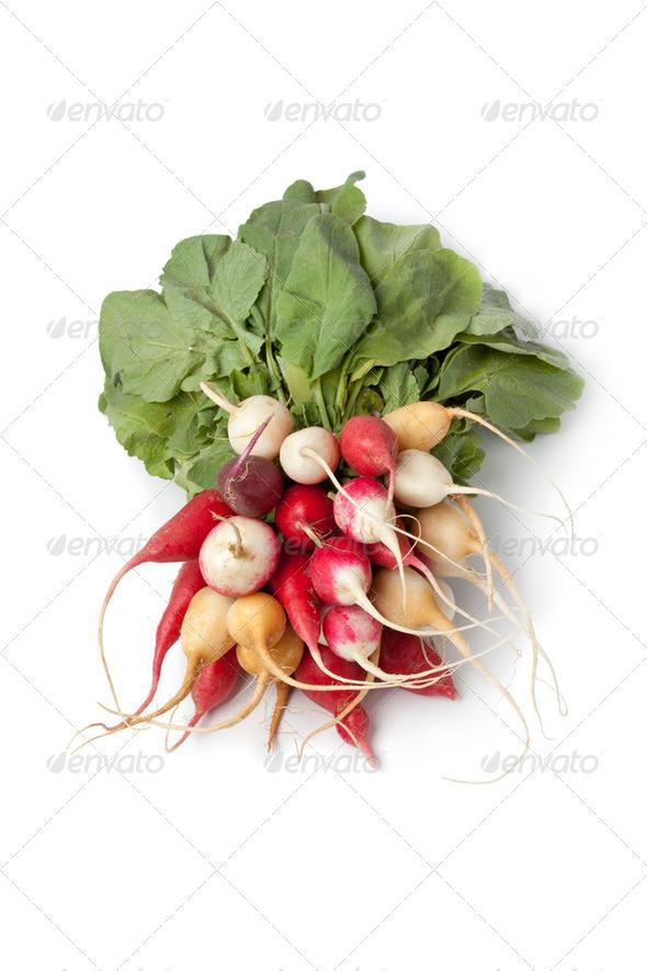 Bunch of rainbow radish - Stock Photo - Images