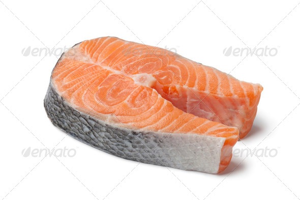 Fresh slice of salmon - Stock Photo - Images