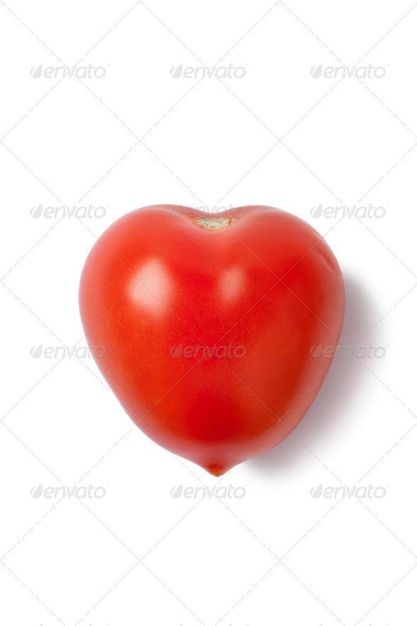 Heart shaped tomato - Stock Photo - Images