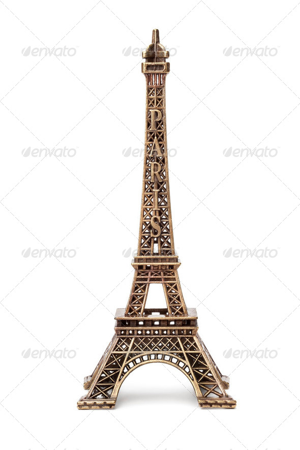 Miniature Eiffel tower souvenir - Stock Photo - Images