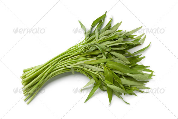 Bunch of Fresh Water Spinach - Stock Photo - Images