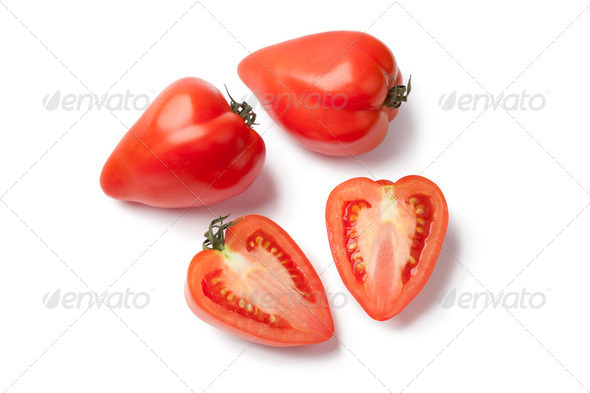 Heartshaped French Tomatoes - Stock Photo - Images