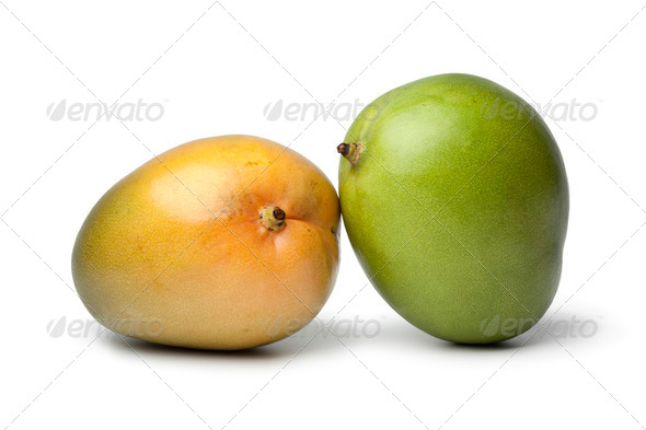 Pair of fresh Mangos - Stock Photo - Images