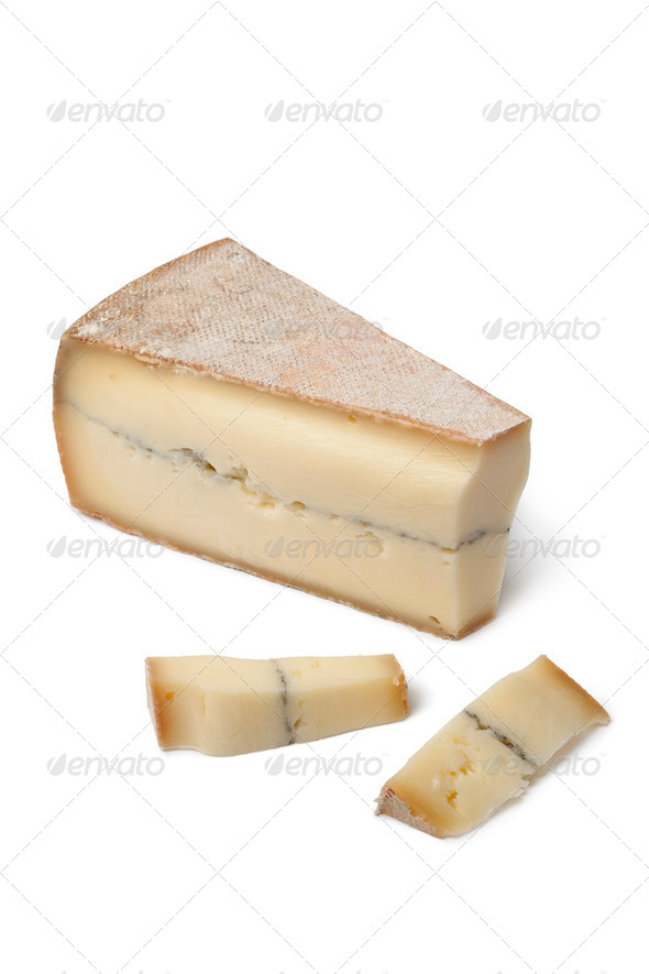 French Morbier cheese - Stock Photo - Images