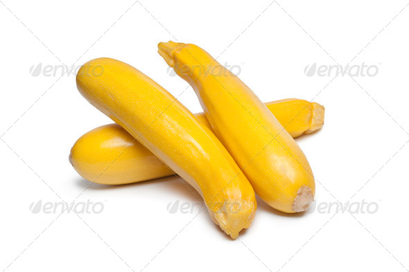 Yellow courgettes - Stock Photo - Images