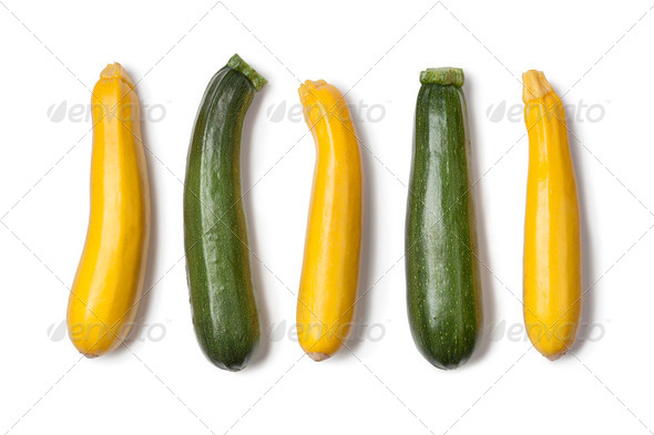 Yellow and green courgettes - Stock Photo - Images