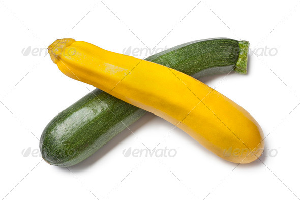 Yellow and green zucchini - Stock Photo - Images