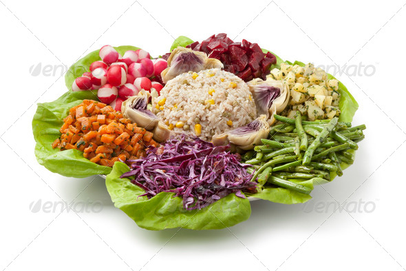 Moroccan dinner salad - Stock Photo - Images