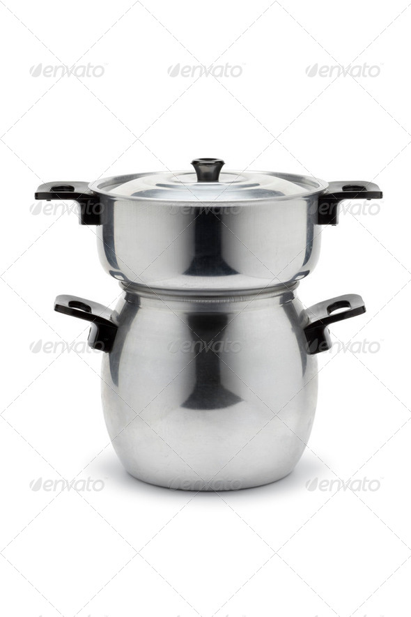 Couscous steamer pan - Stock Photo - Images