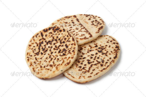 Fresh baked naan - Stock Photo - Images