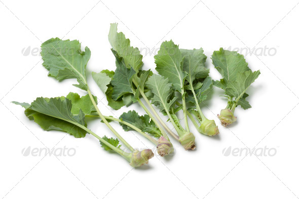 Fresh baby kohlrabi - Stock Photo - Images