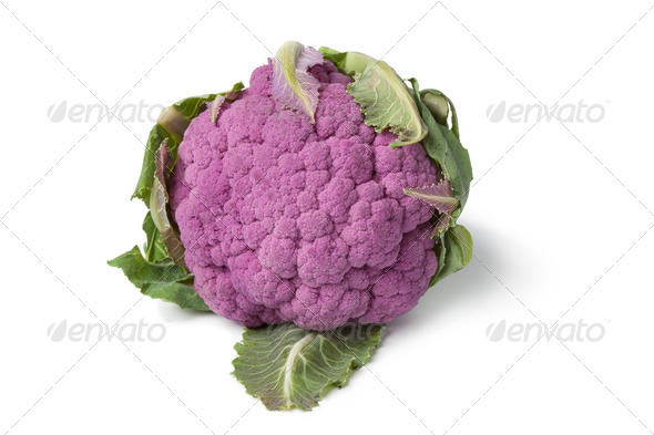 Fresh purple cauliflower - Stock Photo - Images