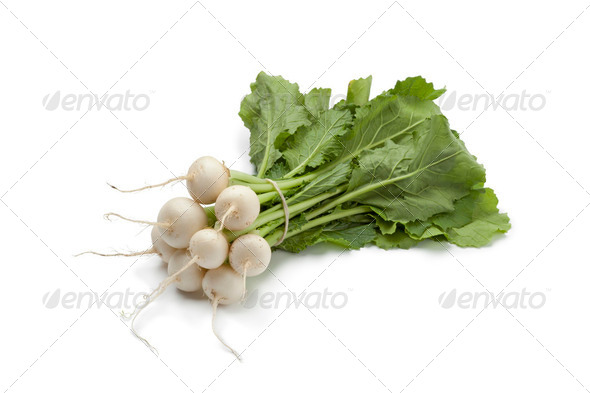 Mini white turnips - Stock Photo - Images