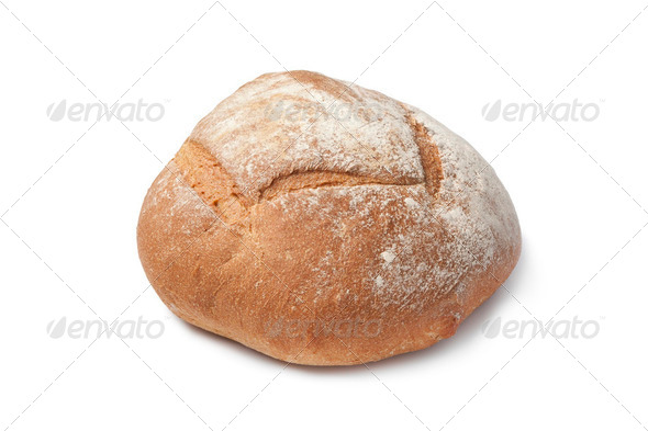 Whole fresh artisan loaf of bread - Stock Photo - Images