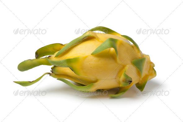 Whole single yellow Pitaya - Stock Photo - Images