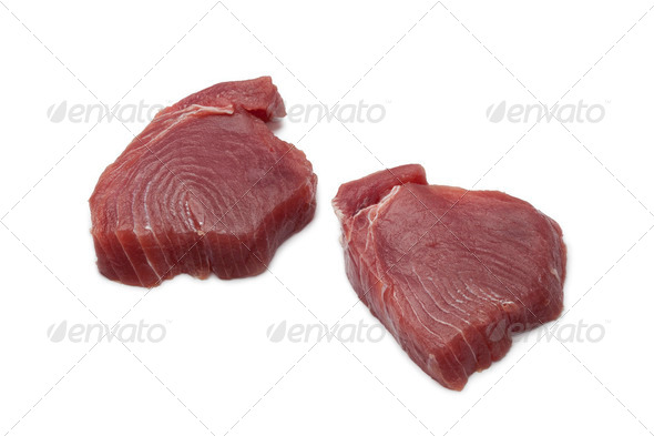 Fresh tuna steaks - Stock Photo - Images