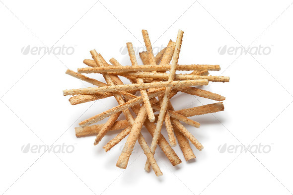Breadsticks with sesame seeds - Stock Photo - Images