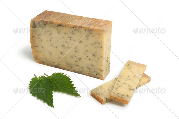 Nettle cheese - Stock Photo - Images