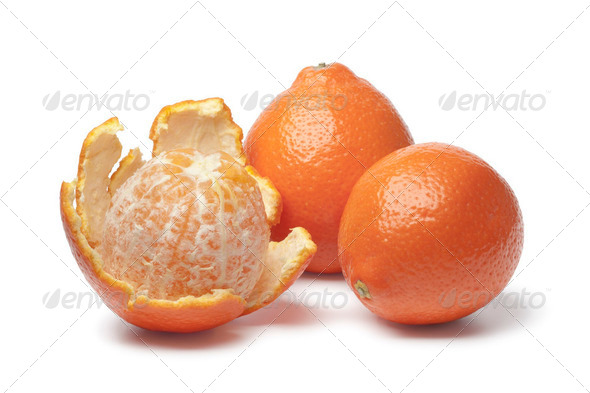 Whole and peeled Tangelo - Stock Photo - Images