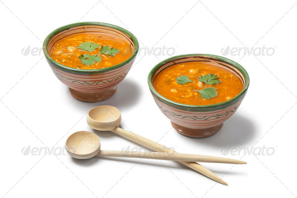 Moroccan harira soup - Stock Photo - Images