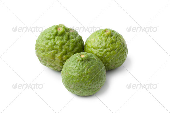 Whole Kaffir limes - Stock Photo - Images