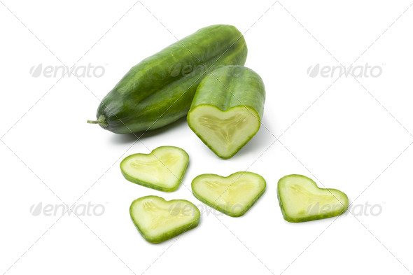 Hear tshaped cucumber - Stock Photo - Images
