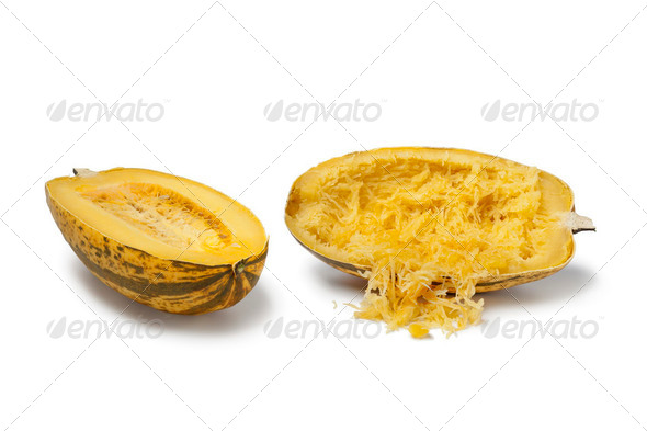 Cooked spaghetti squash - Stock Photo - Images