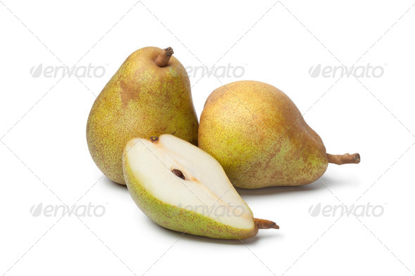 Whole and half pears - Stock Photo - Images