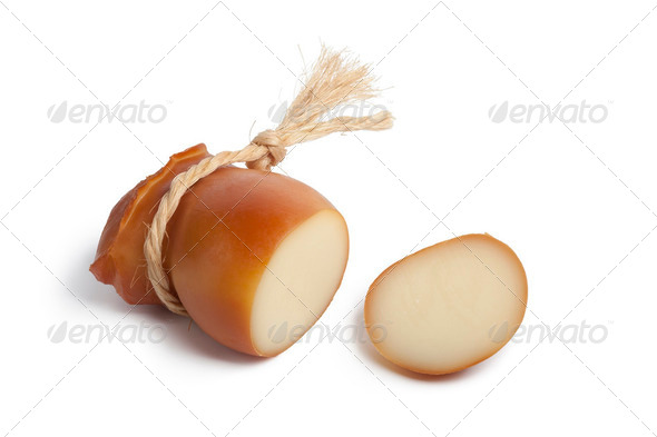 Smoked Scamorza cheese - Stock Photo - Images